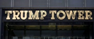 FILE PHOTO: The Trump Tower logo is pictured in New York, U.S., May 23, 2016. REUTERS/Carlo Allegri/File Photo