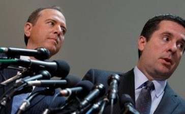 House Select Committee on Intelligence Chairman Rep. Devin Nunes (R-CA) and Ranking Member Rep. Adam Schiff (D-CA) speak with the media about the ongoing Russia investigation on Capitol Hill