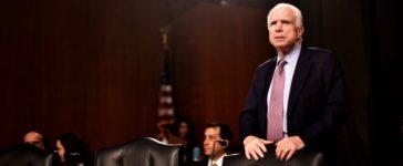 U.S. Senator John McCain (R-AZ) takes his seat before hearing testimony to the Senate Select Intelligence Committee on the nomination of former U.S. Senator Dan Coats (R-IN) to be Director of National Intelligence in Washington, U.S., February 28, 2017. REUTERS/James Lawler Duggan/File Photo