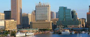 Inner harbor at Baltimore, Maryland: Joseph Sohm/shutterstock