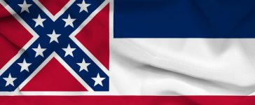 A Mississippi Senate bill would grant two public colleges a tax exemption if they fly the state flag, which is currently flown by none of the eight public colleges because it features the Confederate battle flag.(Shutterstock)