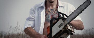 Maniac with a chainsaw. [Shutterstock - BPTU]