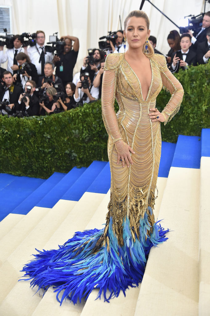 Blake Lively showed up in a beautiful gown. (Photo credit: Getty Images)