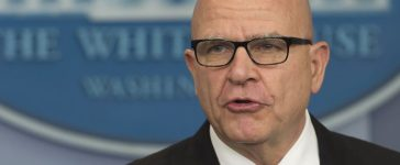 National Security Advisor H. R. McMaster speaks during a press briefing at the White House in Washington, D.C. on May 16, 2017. (Photo credit: SAUL LOEB/AFP/Getty Images)