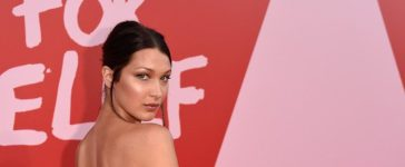 CANNES, FRANCE - MAY 21: Bella Hadid attends the Fashion for Relief event during the 70th annual Cannes Film Festival at Aeroport Cannes Mandelieu on May 21, 2017 in Cannes, France. (Photo by Antony Jones/Getty Images)