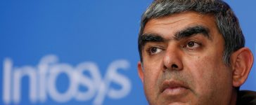 Infosys Chief Executive Vishal Sikka attends a news conference in Mumbai, India, February 13, 2017. (PHOTO: REUTERS/Danish Siddiqui)