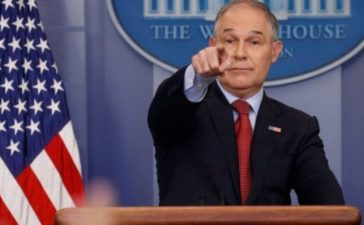Environmental Protection Agency (EPA) Administrator Scott Pruitt takes questions about the Trump administration's withdrawal of the U.S. from the Paris climate accords during the daily briefing at the White House in Washington, U.S., June 2, 2017. REUTERS/Jonathan Ernst