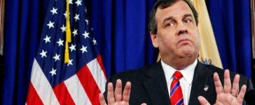 FILE PHOTO: New Jersey Governor Christie reacts to a question during a news conference in Trenton
