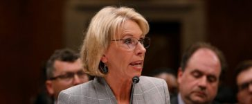 U.S. Education Secretary Betsy DeVos testifies before the Labor, Health and Human Services, Education, and Related Agencies subcommittee of the Senate Appropriations Committee on Capitol Hill in Washington, D.C. June 6, 2017. REUTERS/Aaron P. Bernstein