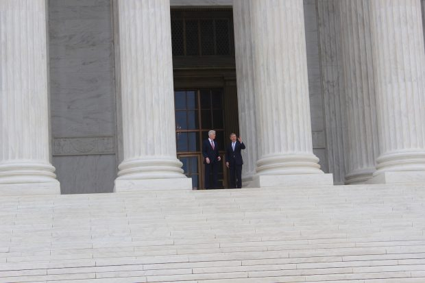 Chief Justice John Roberts and Justice Neil Gorsuch at the Supreme Court on June 15, 2017. (Kevin Daley/Daily Caller News Foundation)