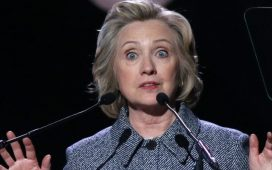 NEW YORK - March 10, 2015: Hillary Clinton speaks during the Step It Up For Gender Equality event at the Hammerstein Ballroom on March 10, 2015, in New York. Shutterstock/ JStone
