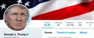 The masthead of U.S. President Donald Trump's @realDonaldTrump Twitter account is seen on July 11, 2017. @realDonaldTrump/Handout via REUTERS