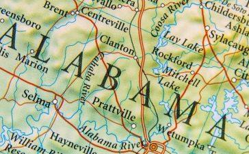 Map of Alabama. (Bennian/Shutterstock.)