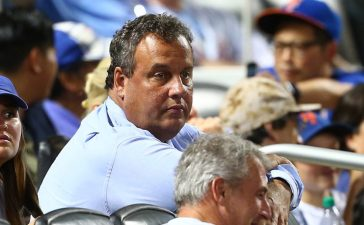 Governor of New Jersey Chris Christie attends the game between the New York Mets and the St. Louis Cardinals at Citi Field on July 18, 2017 in the Flushing neighborhood of the Queens borough of New York City. (Photo by Mike Stobe/Getty Images)