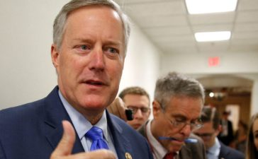 Rep. Mark Meadows (R-NC), House Freedom Caucus Chairman, speaks to reporters on Capitol Hill in Washington, U.S., May 23, 2017. REUTERS/Joshua Roberts