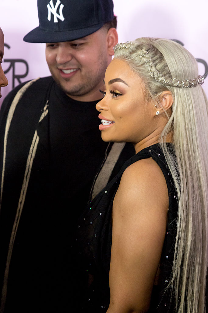 Rob Kardashian and Blac Chyna during happier times on May 10, 2016 in Hollywood, California. (Photo by Greg Doherty/Getty Images)