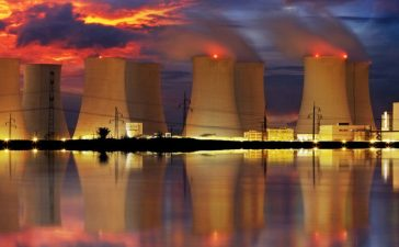 Nuclear power plant by night (Shutterstock/TTstudio)