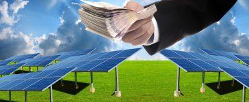 Investor pay for build solar farm (Shutterstock/pixbox77)