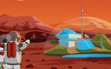 Space home on Mars. The base humans in space (Shutterstock/Katrevich Valeriy)