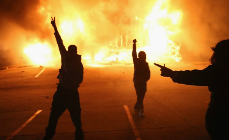 Ferguson riot Getty Images/Scott Olson
