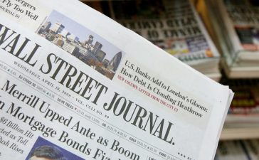 The U.S. Edition of The Wall Street Journal is displayed in front of British newspapers which it now sells alongside on a news stand in London on April 16, 2008 in London, England. Today is the first day the U.S. Edition of the newspaper goes on sale in U.K. (Photo by Cate Gillon/Getty Images)