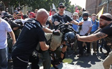 Chaos erupted in Charlottesville, Va. August 12. (Chip Somodevilla/Getty Images)