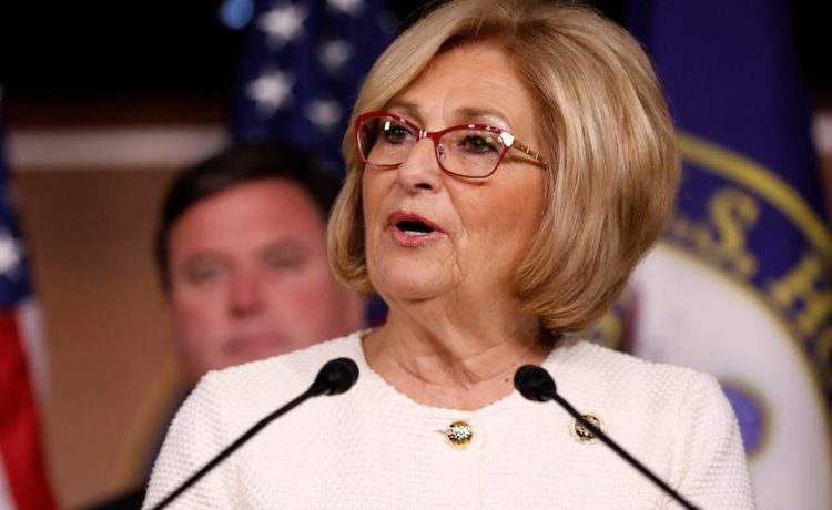 Rep. Diane Black (R-TN) announces the 2018 budget blueprint during a press conference on Capitol Hill in Washington, U.S., July 18, 2017. REUTERS/Aaron P. Bernstein - RTX3BY3H