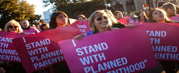 Planned Parenthood rally. (Youtube screenshot/Secular Talk)