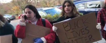 Oberlin protesters YouTube screenshot/Charles N Jackson