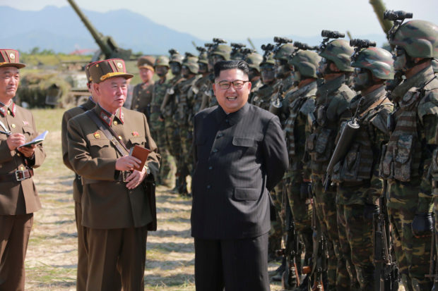 North Korean leader Kim Jong Un guides a target-striking contest of the special operation forces of the Korean People's Army (KPA) to occupy islands in this undated picture provided by KCNA in Pyongyang on August 25, 2017. KCNA via Reuters