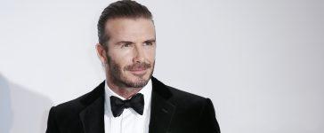 David Beckham arrives at the amfAR Gala Cannes 2017. (Shutterstock/Andrea Raffin).