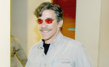KUWAIT CITY, KUWAIT - APRIL 3: Fox News correspondent Geraldo Rivera walks from the Coalition Press Center after he was expelled from his media embed April 3, 2003 in Kuwait. Rivera violated the media ground rules by exposing operational details while with the 101st Airborne in Iraq. (Photo by Richard Ellis/Getty Images)