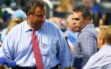 Governor of New Jersey Chris Christie attends the game between the New York Mets and the St. Louis Cardinals at Citi Field in July 2017 in the Flushing neighborhood of the Queens borough of New York City. (Photo by Mike Stobe/Getty Images)