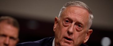 """U.S. Secretary of Defense James Mattis testifies before a Senate Armed Services Committee hearing on the """"Political and Security Situation in Afghanistan"""" on Capitol Hill in Washington, U.S., October 3, 2017. REUTERS/Aaron P. Bernstein"""