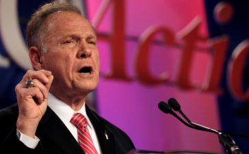 Former Alabama Supreme Court Chief Justice Roy Moore speaks at the Values Voter Summit of the Family Research Council in Washington, DC, U.S. October 13, 2017. REUTERS/James Lawler Duggan