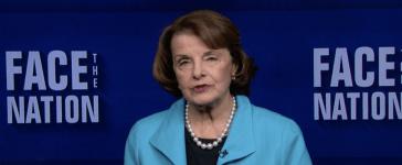 Sen. Dianne Feinstein on Face the Nation in Oct. 2017. (Screenshot/CBS News)