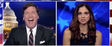 Tucker Laugh Fox News Screenshot