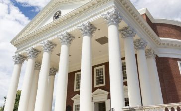 Rotunda on the grounds of the University of Virginia in Charlottesville, Virginia on August 18, 2017. Thomas Jefferson modeled the Rotunda. Construction began in 1822 and was completed in 1826 (Shutterstock/ImagineerInc)