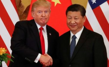 President Trump and China's President Xi Jinping shake hands after making joint statements. REUTERS/Damir Sagolj