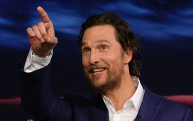"""Matthew McConaughey Visits """"The Tonight Show Starring Jimmy Fallon"""" at Rockefeller Center on December 20, 2016 in New York City. (Photo by Theo Wargo/Getty Images for NBC)"""