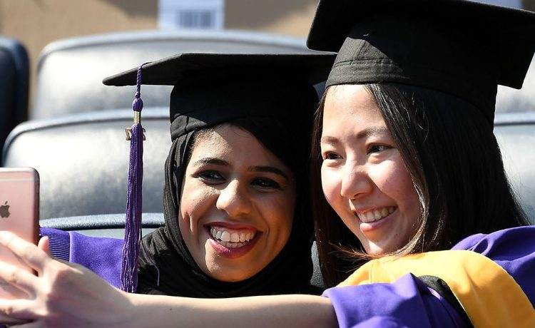 Students attend the New York University 2017 Commencement at Yankee Stadium on May 17, 2017 in the Bronx borough of New York City. (Photo by Dia Dipasupil/Getty Images)
