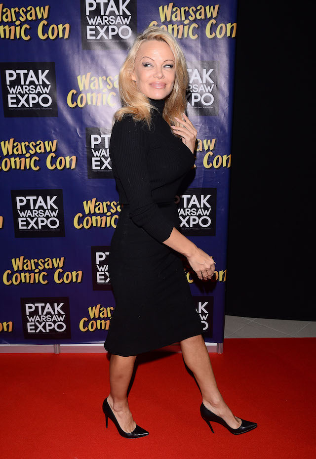 Pamela Anderson during the 'Comic Con' in Warsaw <P> Pictured: Pamela Anderson <B>Ref: SPL1629687 271117 </B><BR /> Picture by: Splash News<