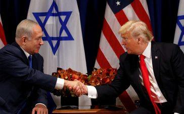 U.S. President Donald Trump meets with Israeli Prime Minister Benjamin Netanyahu in New York, U.S., September 18, 2017. REUTERS/Kevin Lamarque