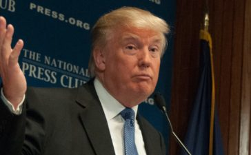 WASHINGTON - MAY 27, 2014 - Real estate mogul Donald Trump speaks to a luncheon at the National Press Club. (Photo: Shutterstock/Albert H. Teich)