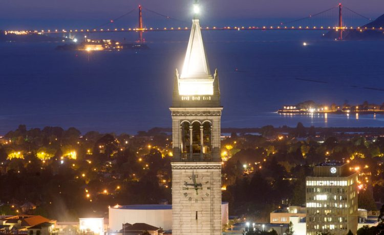 FILE PHOTO - Sather Tower rises above the University of California at Berkeley campus in Berkeley, California, U.S. in this May 12, 2014 file photo. REUTERS/Noah Berger/File Photo - S1AETRBLXWAA