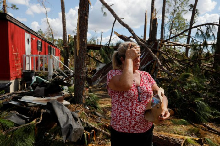 The Wider Image: Volunteers rush to aid survivors after Hurricane Michael