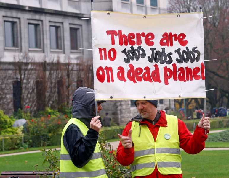 March against climate change in Brussels