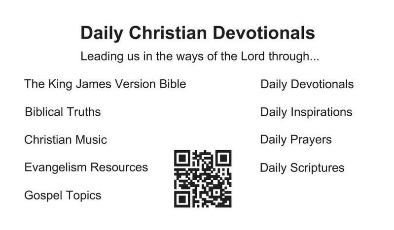 Daily Christian Devotionals Card (Back)