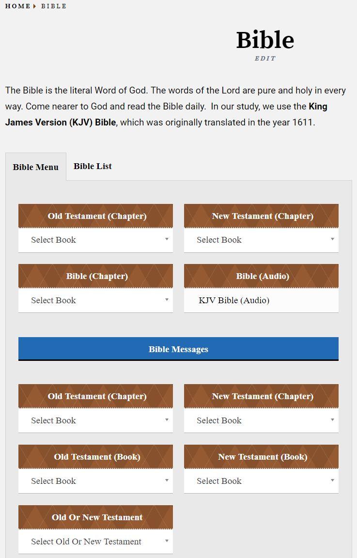 BibleMenu