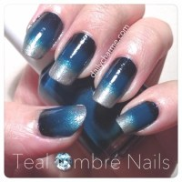 Teal Ombr Nails | daily charme
